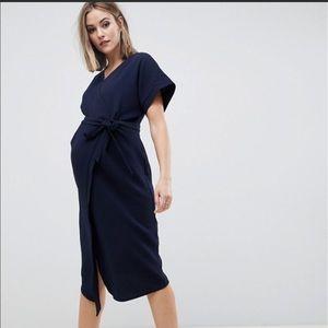 ASOS DESIGN Maternity wrap midi dress 16